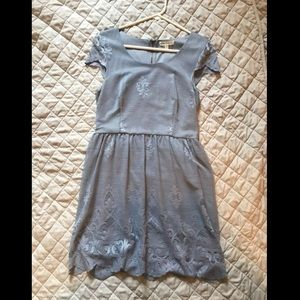 Dusty blue vintage style dress